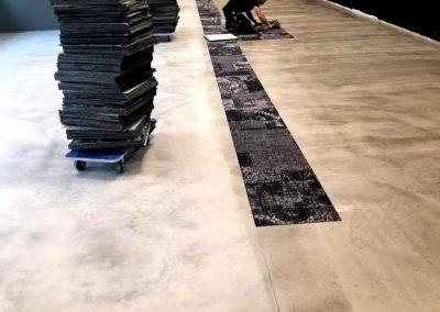 Läggning av textilplattor