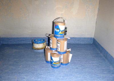 Läggning av våtrumsmatta & glasfibertapet