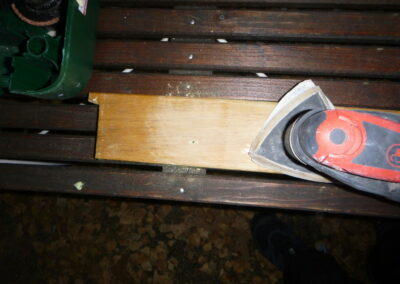 Efterarbete/slipa golvtröskel