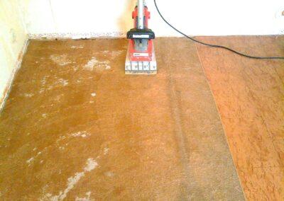 Förarbete/borttagning av golv